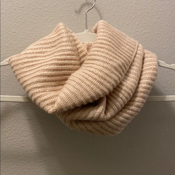 Brand new pale pink cowl neck infinity scarf